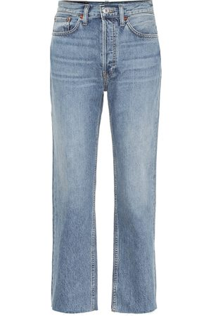RE/DONE Stove Pipe high-rise straight jeans