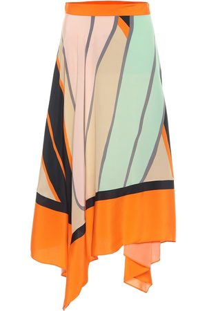 Diane von Furstenberg Madeline printed silk midi skirt