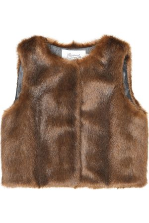 BONPOINT Poppy faux fur vest