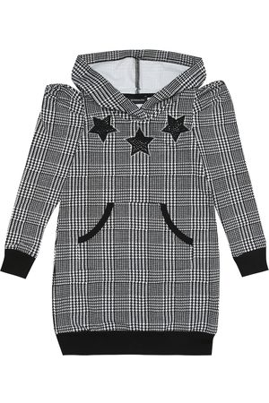 MONNALISA Gingham checked hoodie dress
