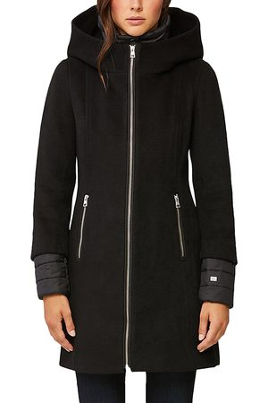 Soia & Kyo Women Coats - Rooney Hooded Mixed Media Coat