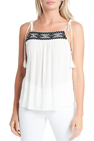 1. STATE Women Tank Tops - Embroidered Sleeveless Top