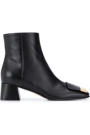 Sergio Rossi Logo-plaque ankle boots