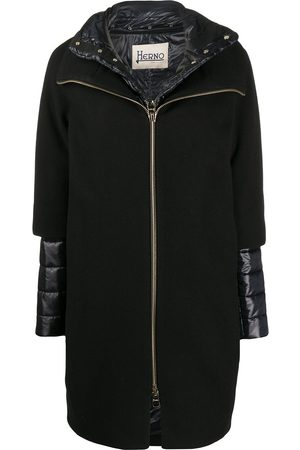HERNO Layered padded detail coat