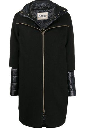 HERNO Women Puffer Jackets - Layered padded detail coat