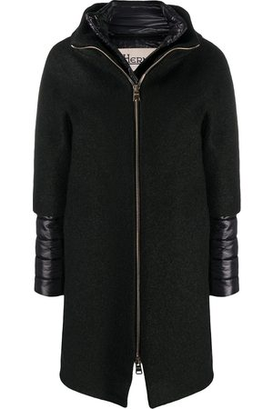 HERNO Padded-detail mid-length coat