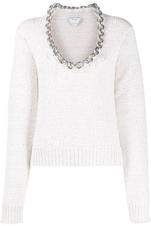 Bottega Veneta Women Sweaters - Chain-detail scoop-neck jumper
