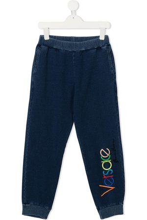 VERSACE Boys Sweatpants - Embroidered logo track trousers