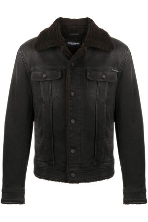 Dolce & Gabbana Shearling detail denim jacket