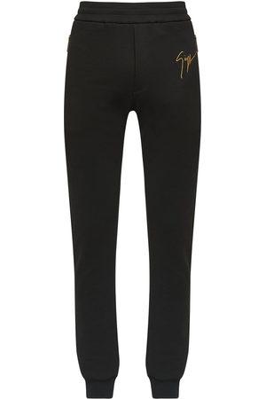 Giuseppe Zanotti Men Sweatpants - Logo print-track pants