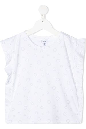 KNOT Ruffle-trimmed bubbles top