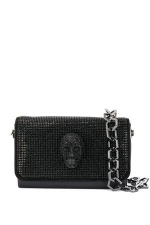 Philipp Plein Crystal-embellished skull handbag