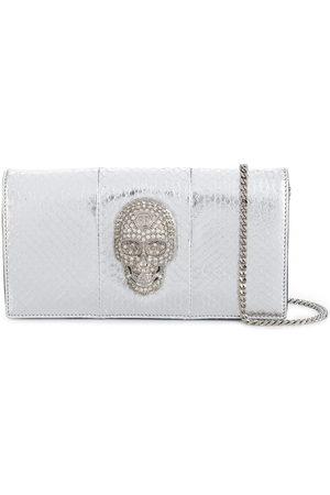 Philipp Plein Skull metallic shoulder bag