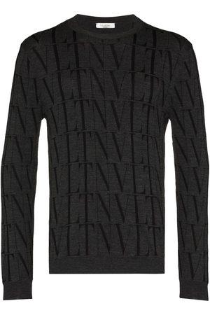 VALENTINO VLTN fine-knit jumper - Grey