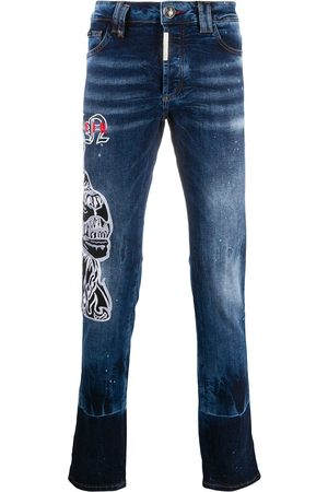 Philipp Plein Men Straight - Star mid-rise straight jeans