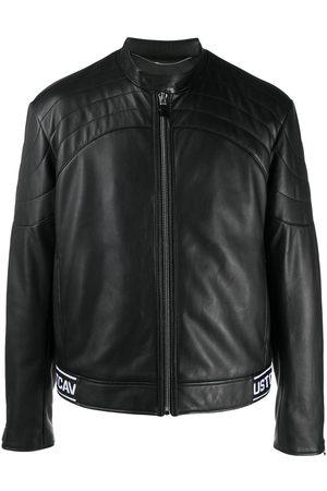 Roberto Cavalli Logo-hem biker jacket