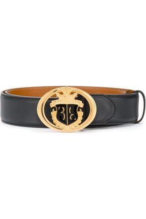 BILLIONAIRE Crest buckle leather belt