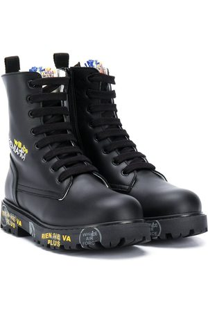 Premiata Lace-up cargo boots