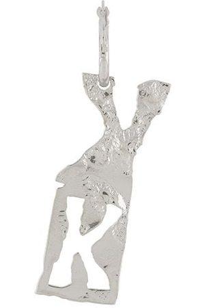 Acne Studios K-pendant single earring