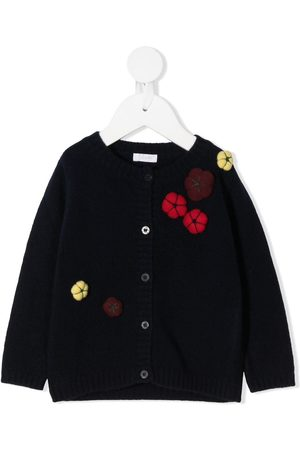 Il gufo Embroidered flower cardigan