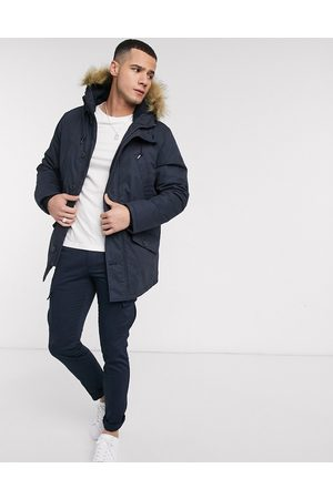 Farah Bolton hooded parka jacket-Navy