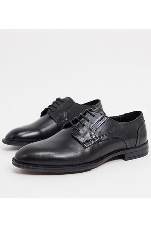 ASOS Wide Fit derby shoes in leather