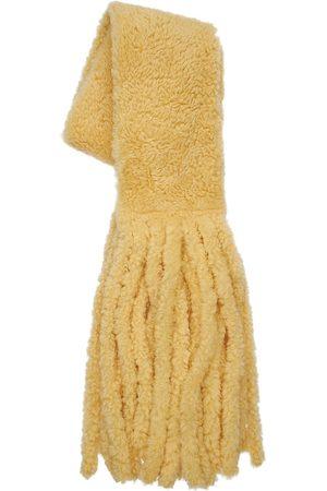 Bottega Veneta Maxi Shearling Scarf W/fringes