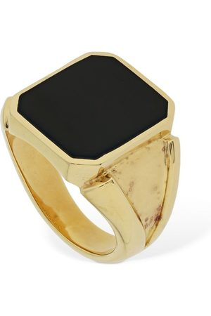 Bottega Veneta Enamel Square Thick Ring