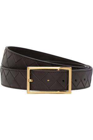 Bottega Veneta Men Belts - 3cm Intrecciato Leather Belt