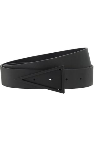 Bottega Veneta 3cm Leather Belt W/ Triangle Buckle