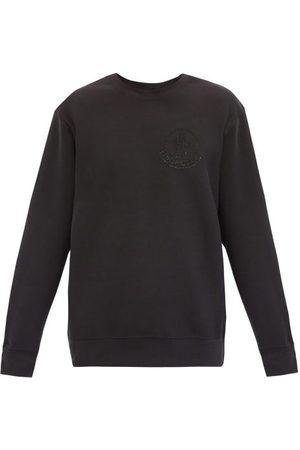 Moncler Men Sweatshirts - Swarovski-embellished Cotton-jersey Sweatshirt - Mens