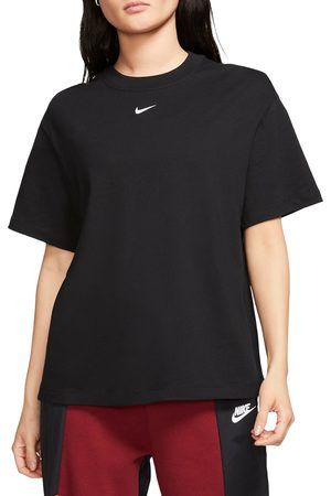 Nike Women's Essential Embroidered Swoosh Organic Cotton T-Shirt