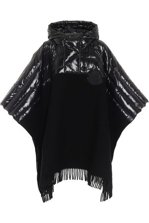 Moncler Down and wool poncho