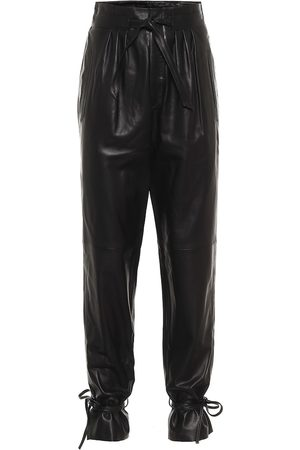 Isabel Marant Duardo leather carrot pants