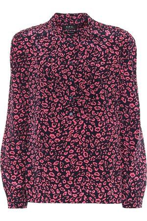 A.P.C Diana cheetah-print silk blouse