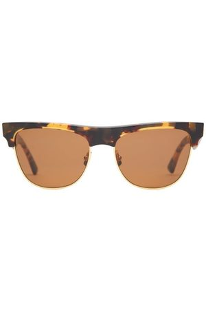Bottega Veneta Women Round - Clubmaster Tortoiseshell-effect Acetate Sunglasses - Womens - Tortoiseshell