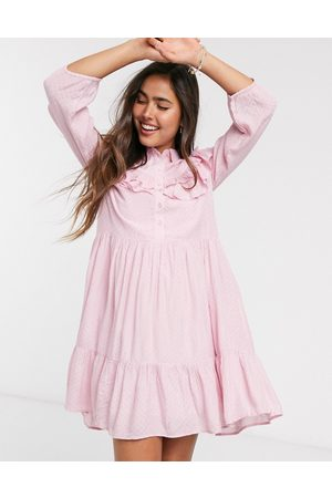 Y.A.S Smock dress with ruffle detail in