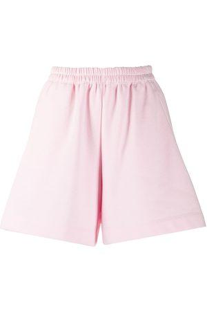 Styland Women Flat Shoes - Slip-on cotton shorts