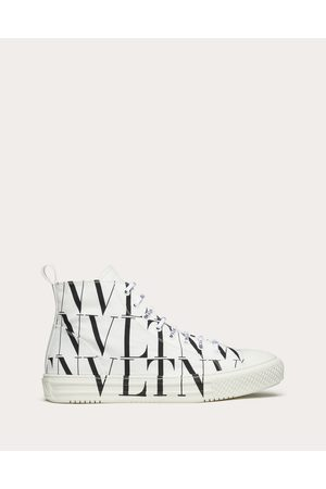 VALENTINO GARAVANI Men Sneakers - Vltn Times Giggies High-top Fabric Sneaker Man / Cotton 100% 40