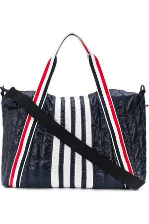 Thom Browne Men Luggage - 4-Bar quilted ripstop gym bag