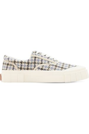 Good News Opal Check Low Top Cotton Sneakers