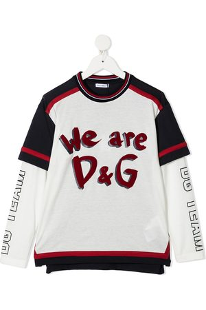 Dolce & Gabbana Logo-print layered sweatshirt