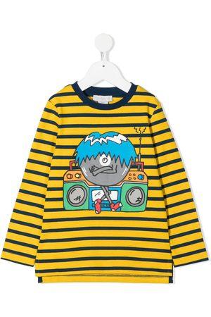 Stella McCartney Boombox print striped T-shirt