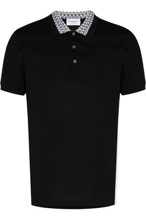 Salvatore Ferragamo Men Polo Shirts - Gancini-print polo shirt