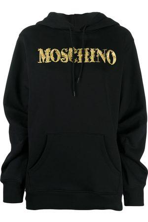 Moschino Logo embroidery hoodie