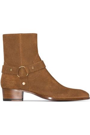 Saint Laurent Wyatt suede boots