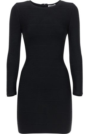 Hervé Léger Fitted Stretch Jersey Mini Dress