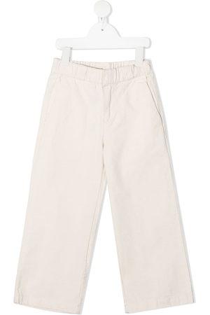Longlivethequeen Straight-leg cotton trousers - Neutrals