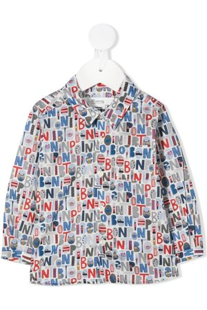 BONPOINT All-over logo shirt