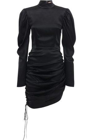 MATÉRIEL by Aleksandre Akhalkatsishvili Draped Satin Mini Dress